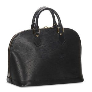 Louis vuitton Alma epi black leather satchel bag